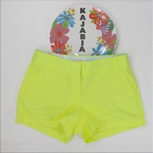 J. CREW Factory Yellow City Fit Shorts Size 2 NWT